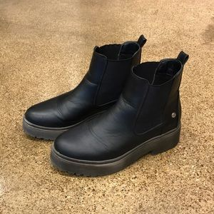 Blink Black Chunky Gum Sole Chelsea Boots (9)